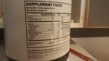 Regular, bold and light sans-serif for nutritional value